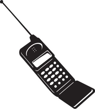 휴대 전화 비닐 준비 일러스트