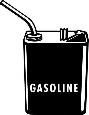 ガソリン容器のビニールの準備