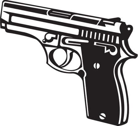 mano pistola: Mano Vinyl fucile pronto Vettoriali