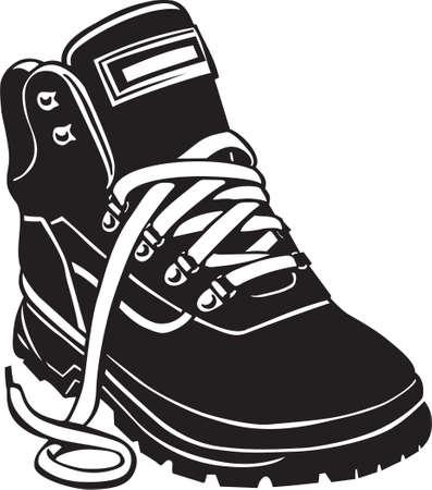 Hiking Boot Vinyl Ready Banco de Imagens - 13982033