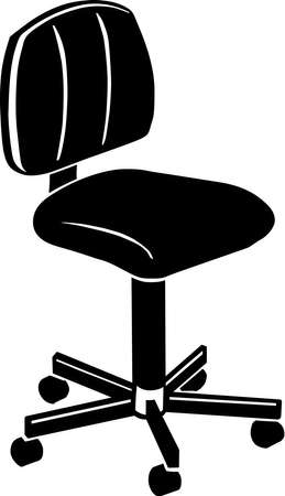 swivel: Office Chair Vinyl Ready  Illustration