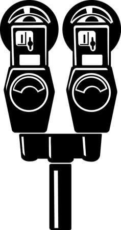 parking violation: Parking Meter Vinyl Ready Vector Illustration