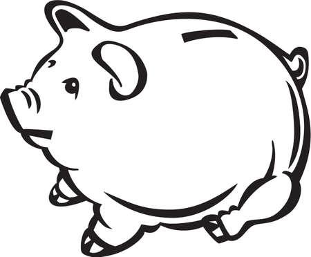 Piggy Bank Vinyl Ready Stock Vector - 13981745