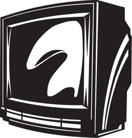set de television: Televisi�n Vinyl Ready Set Vectores