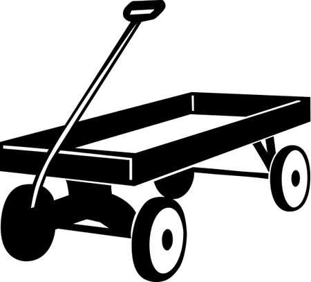 Toy Wagon Vinyl Ready Vector Illustration Illusztráció