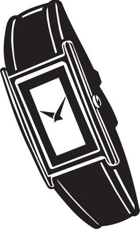 wristwatch: Wrist Watch Vinyl Ready Vector Illustration Illustration