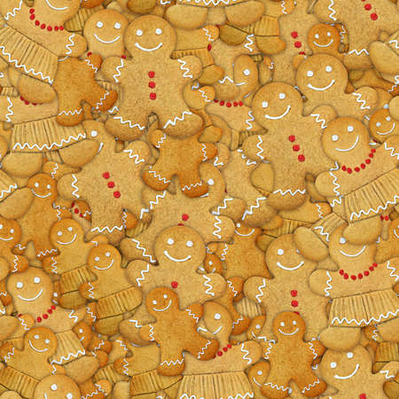 Gingerbread Cookies Seamless Texture Tile Stock Photo