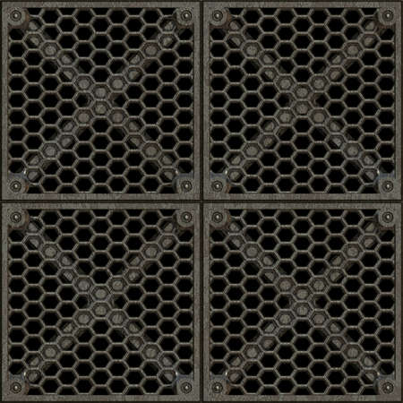 material: Steel Grate Seamless Texture Tile