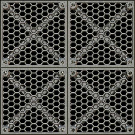 쇠 격자: 철강 창 살 원활한 텍스처 타일 스톡 사진