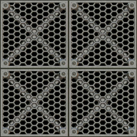 Steel Grate Seamless Texture Tile photo