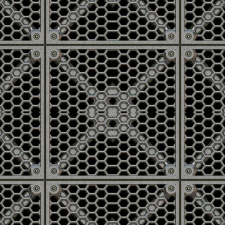 Râper en acier Tile Seamless Texture Banque d'images - 14024335