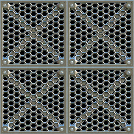 Steel Grate Seamless Texture Tile photo