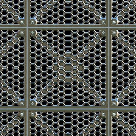 metal grate: Steel Grate Seamless Texture Tile