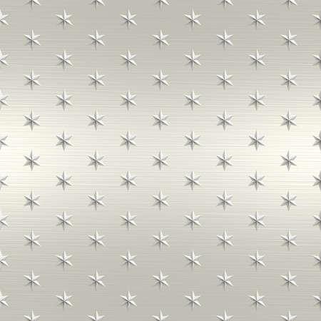 Star Metal Seamless Texture Tile Stock Photo - 14024309