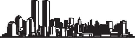 City Skyline Vinyl Ready Vettoriali