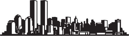 city building: City Skyline Vinyl Ready Illustration