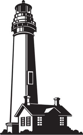 Lighthouse Vinyl Ready Vector Illustration