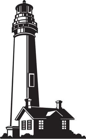 ready: Lighthouse Vinyl Ready Vector Illustration