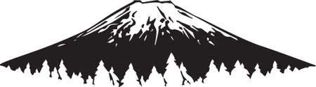 snow capped: Mountain Vinyl Ready  Illustration