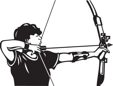 アーチャー ビニール準備ができているベクトル イラスト  イラスト・ベクター素材