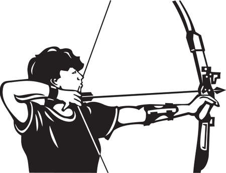 Archer vinilo Ilustración Vector Ready