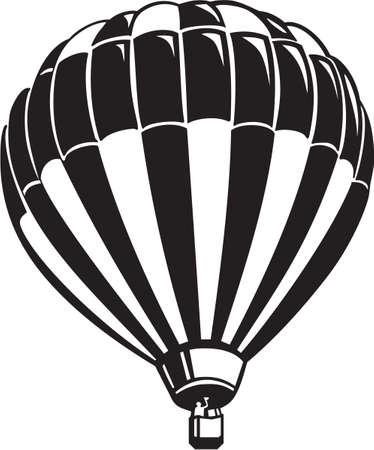 뜨거운 공기 풍선 비닐 준비 일러스트
