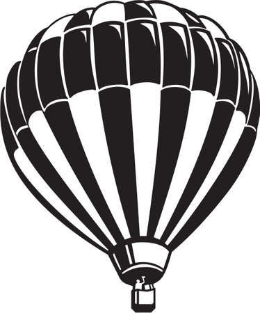 Hot Air Balloon Vinyl Ready  Vector