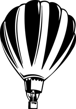air sport: Hot Air Balloon Vinyl Ready Illustration