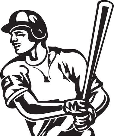 Baseball Batter Vinyl Ready Vector Illustration Vector