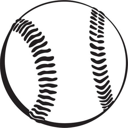 Baseball Vinyl Ready Vettoriali