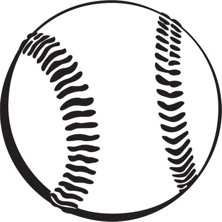 baseball ball: Baseball Vinyl Ready Illustration