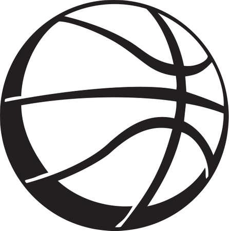 Vinyl Basketball Prêt Banque d'images - 14024468