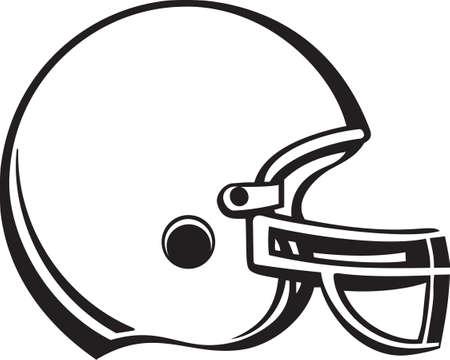 Fútbol de vinilo Casco Listo Ilustración de vector