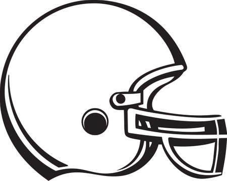 football helmet: Football Helmet Vinyl Ready