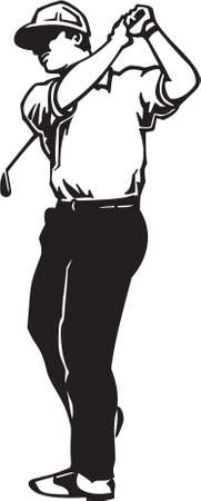 Vinyl golfeur Prêt Banque d'images - 14024541