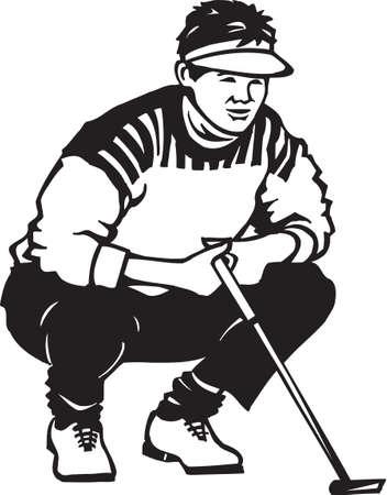 golf swing: Golfer Vinyl Ready