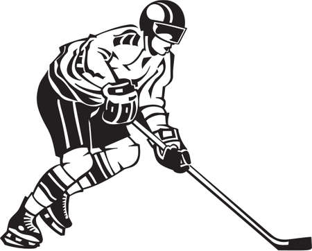 ice hockey player: Hockey Player Vinyl Ready