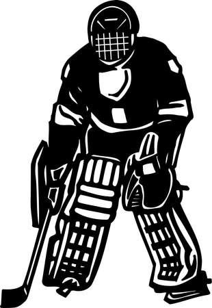 Hockey Player Vinyl Ready Vector