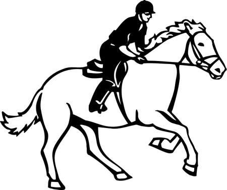 Horse and Rider Vinyl Ready