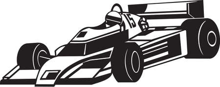 Indy Racing Car Vinyl Ready Vector