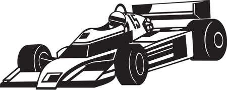 Indy Racing Car Vinyl Ready Illustration