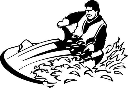 personal watercraft: Personal Watercraft Vinyl Ready Illustration