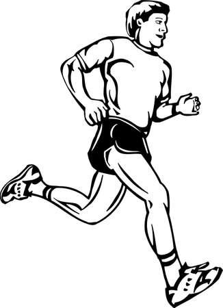 Jogger Listas para vinilo Ilustración de vector