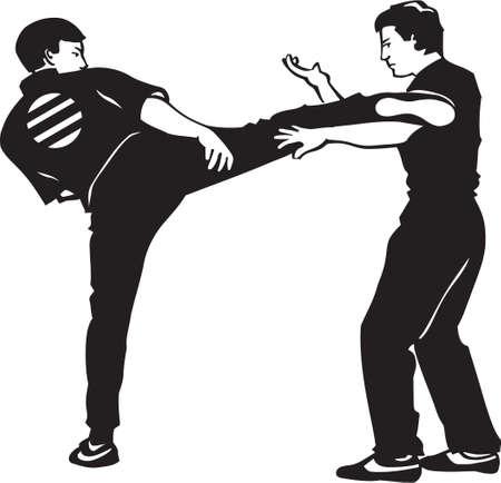 Karate Fighters Vinyl Ready  Vector