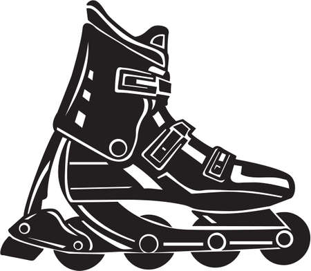 roller blade: Roller Blade Vinyl Ready  Illustration