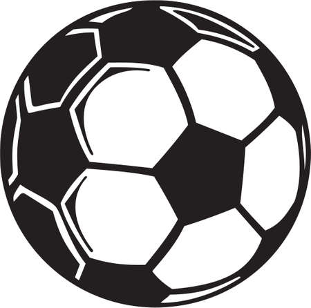 vinyl ready: Soccer Ball Vinyl Ready  Illustration