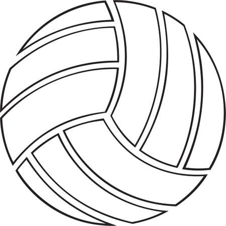Volley-ball Vinyl-Ready Banque d'images - 14024530