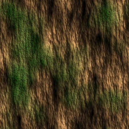 Tree Bark with Moss Seamless Texture Tile Stock Photo - 14024915