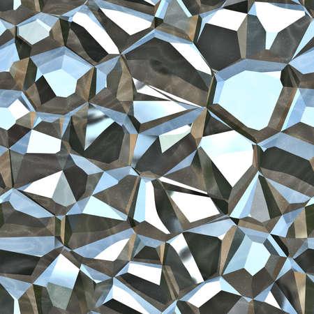 金属結晶のシームレスなテクスチャ タイル 写真素材