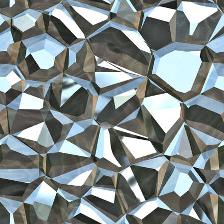 Metallic Crystals Seamless Texture Tile
